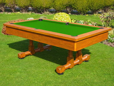 BWL 6ft Classic Outdoor Pool Table + Dining Top + Benches