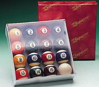 Spots and Stripes American Pool Balls (1 3/4in)