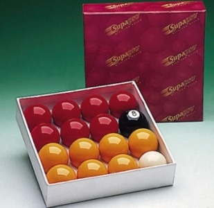2 1/4in Supapro Pool Balls (Reds & Yellows)