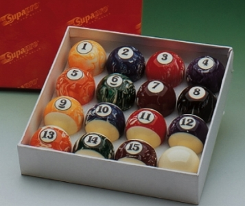 Marblized Pool Balls 2in
