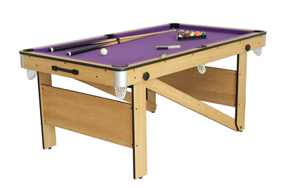6ft Folding Lay Flat Pool Table