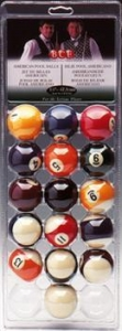 Spots and Stripes American Pool Balls (1 5/8in)