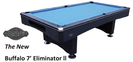 Buffalo 7ft Eliminator II Slatebed American Pool Table