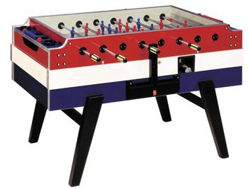 Garlando Coperto Red, White & Blue Football Table