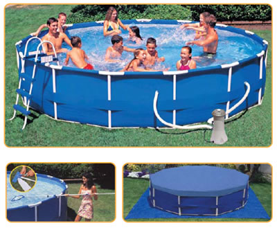15ft Metal Frame Pool with cover