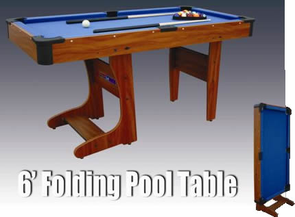 Clifton 6ft Folding Pool Table