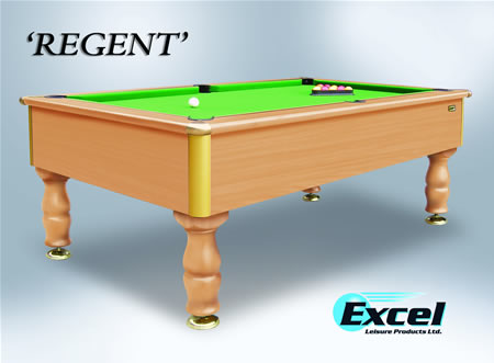 7ft Excel Regent Slate Bed Domestic Pool Table