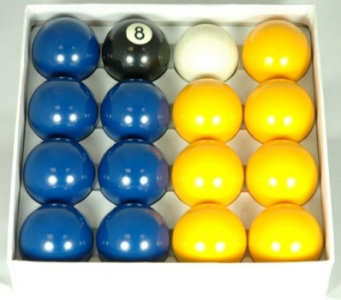 Aramith 1st Quality Blue and Yellow 2in Pool Balls
