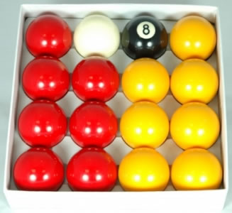 2 1/4in Pool Ball Set (Reds and Yellows)