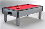 Excel 7ft Slimline Domestic Pool Table (Silver)
